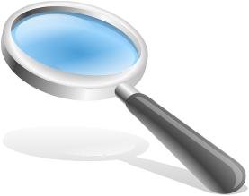 magnifying glass, represents patent search