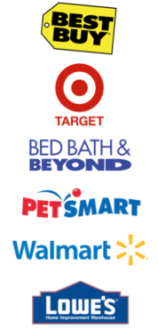 logos of big box retailers